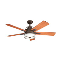 Kichler 300024OZ Lacey II 52 inch Olde Bronze with Medium Cherry/Walnut Blades Ceiling Fan