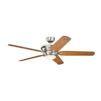 Kichler 300025NI Pino 60 inch Brushed Nickel with Walnut/Cherry Blades Ceiling Fan