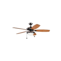 Kichler 300026OBB Canfield Select 52 inch Oil Brushed Bronze with Cherry/Walnut Blades Ceiling Fan