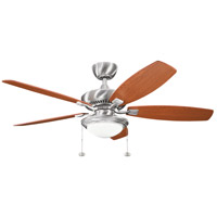 Kichler 300026BSS Canfield Select 52 inch Brushed Stainless Steel with Medium Oak/Dark Oak Blades Ceiling Fan