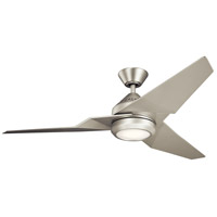 Jade 60 inch Brushed Nickel with Silver Blades Ceiling Fan