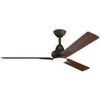 Kichler 300031SNB Kosmus 52 inch Satin Natural Bronze with Walnut and Cherry Blades Ceiling Fan