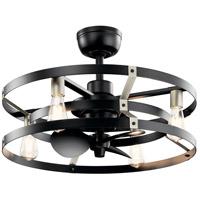 Kichler 300040SBK Cavelli 13 inch Satin Black Ceiling Fan