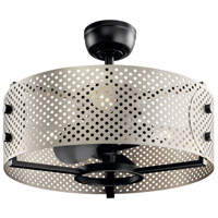 Kichler 300041SBK Eyrie 13 inch Satin Black Ceiling Fan