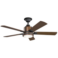 Colerne 52 inch Distressed Black with Auburn Stained Blades Ceiling Fan