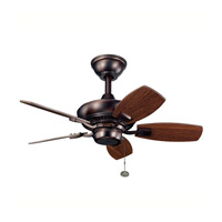 Kichler 300103OBB Canfield 30 inch Oil Brushed Bronze Walnut Outdoor Fan