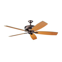 Kichler 300106OBB Monarch 70 inch Oil Brushed Bronze with Walnut Blades Fan