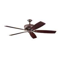 Kichler 300106TZ Monarch 70 inch Tannery Bronze with Teak Blades Fan