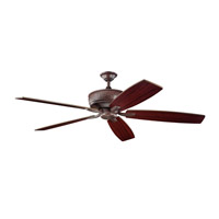 Kichler 300106TZ Monarch 70 inch Tannery Bronze Teak Fan alternative photo thumbnail