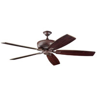 Kichler 300106TZ Monarch 70 inch Tannery Bronze with Teak Blades Fan alternative photo thumbnail