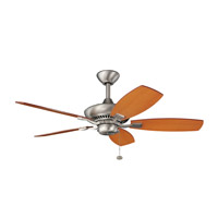 Kichler 300107NI Canfield 44 inch Brushed Nickel with WALNUT/CHERRY Blades Ceiling Fan