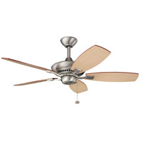 Kichler 300107NI Canfield 44 inch Brushed Nickel with Maple Blades Fan alternative photo thumbnail