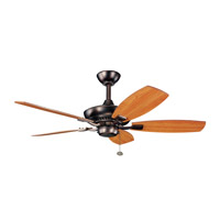 Kichler 300107OBB Canfield 44 inch Oil Brushed Bronze with CHERRY/WALNUT Blades Ceiling Fan