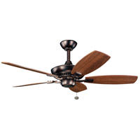 Kichler 300107OBB Canfield 44 inch Oil Brushed Bronze with Walnut Blades Fan alternative photo thumbnail