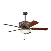 Kichler 300113TZ Cortez 52 inch Tannery Bronze with Walnut Blades Fan photo thumbnail