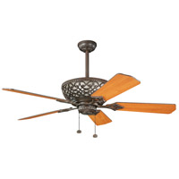 Kichler 300113TZ Cortez 52 inch Tannery Bronze with Walnut Blades Fan alternative photo thumbnail