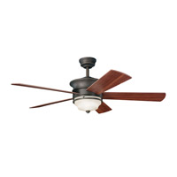 Kichler 300114OZ Hendrik Olde Bronze with Walnut Blades Fan photo thumbnail