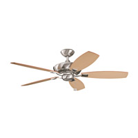 Kichler 300117BSS Canfield Brushed Stainless Steel with Light Oak Blades Fan in Medium Oak/Dark Oak alternative photo thumbnail