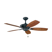 Kichler 300117DBK Canfield 52 inch Distressed Black with Walnut Blades Fan in Walnut/American Walnut