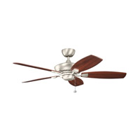 Kichler 300117NI Canfield 52 inch Brushed Nickel with Cherry Blades Fan in Cherry and Walnut Reversible alternative photo thumbnail