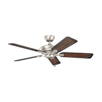 Kichler 300117NI Canfield 52 inch Brushed Nickel with Cherry Blades Fan in Cherry and Walnut Reversible