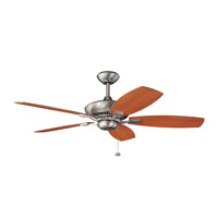 Canfield 52 inch Brushed Nickel with Cherry Blades Fan in Cherry and Walnut Reversible