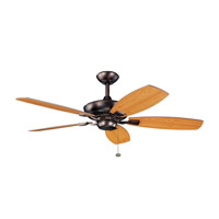 Kichler 300117OBB Canfield 52 inch Oil Brushed Bronze with Walnut Blades Fan in Walnut / Cherry