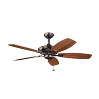 Kichler 300117OBB Canfield 52 inch Oil Brushed Bronze with Walnut Blades Fan in Walnut / Cherry alternative photo thumbnail