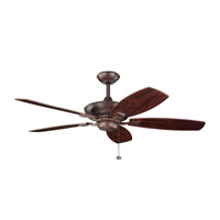 Canfield 52 inch Tannery Bronze with Teak Blades Fan in Teak / Cherry