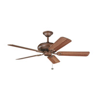 Kichler Lighting Bentzen Fan in Antique Wood 300118AWD