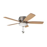 Kichler 300119NI Windham 52 inch Brushed Nickel with Maple Blades Outdoor Fan photo thumbnail