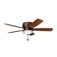 Kichler 300119OBB Windham 52 inch Oil Brushed Bronze with Walnut Blades Outdoor Fan photo thumbnail