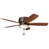 Kichler 300119OBB Windham 52 inch Oil Brushed Bronze with Walnut Blades Outdoor Fan alternative photo thumbnail