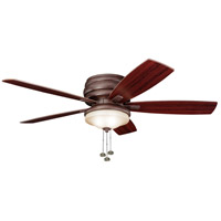 Kichler 300119TZ Windham 52 inch Tannery Bronze with Teak Blades Outdoor Fan alternative photo thumbnail