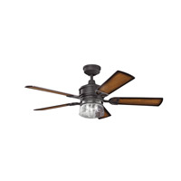 Kichler 300120DBK Lyndon 52 inch Distressed Black with Walnut MS-5036 Blades Fan