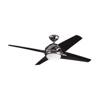 Kichler Lighting Rivetta 1 Light Fan in Midnight Chrome 300133MCH alternative photo thumbnail