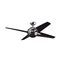 Kichler Lighting Rivetta 1 Light Fan in Midnight Chrome 300133MCH