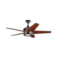 Kichler 300137OBB Makoda Oil Brushed Bronze with Walnut Ms-97503 Blades Fan