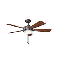 Kichler 300148OBB Logan Oil Brushed Bronze with Walnut Ms-97503 Blades Fan photo thumbnail
