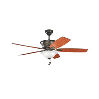 Kichler Lighting Tolkin 3 Light 52 inch Fan in Olde Bronze 300159OZ photo thumbnail
