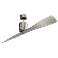 Ferron 60 inch Brushed Nickel with Clear Champagne Blades Ceiling Fan