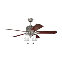 Corinth Antique Pewter with Cherry MS-98514 Blades Fan