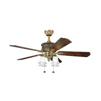 Kichler 300161BAB Corinth Burnished Antique Brass with Elm Burl Blades Fan  alternative photo thumbnail