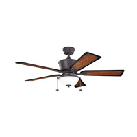 Kichler 300162DBK Cates 52 inch Distressed Black with Walnut Ms97503 Blades Fan