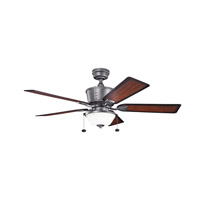 Kichler Cates 3 Light Fan in Weathered Steel Powder Coat 300162WSP