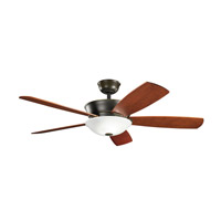 Kichler 300167OLZ Skye 54 inch Oiled Bronze with Cherry MS-98510 Blades Fan in Umber Etched Glass