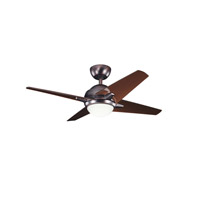 Kichler 300169OBB Sunburst II 42 inch Oil Brushed Bronze with Clear Oil Brushed Bronze Blades Ceiling Fan