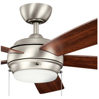 Kichler 300173NI Starkk 52 inch Brushed Nickel with Silver HT-567Snc Blades Fan in Silver/Walnut alternative photo thumbnail