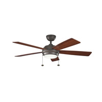 Kichler 300173OZ Starkk 52 inch Olde Bronze with Walnut MS-97503 Blades Fan in Walnut / Cherry