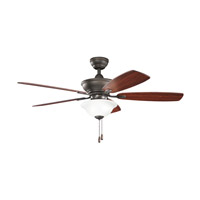 Kichler 300177OZ Frezno 52 inch Olde Bronze with Walnut MS-97503 Blades Fan